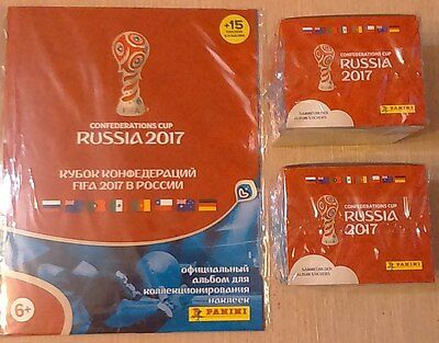 Panini Confederation Cup 2 sealed box (100 packs) from Russia + Album russian