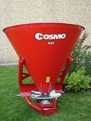 Tractor Fertilizer Spreader by Cosmo, 16 Cubic Feet, 3 Point, PTO