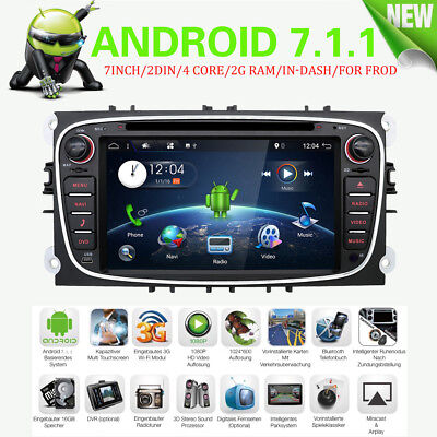 Android6.0 4Core+2G RAM Wifi GPS Navigation For Ford Mondeo/Focus/S-max/Galaxy