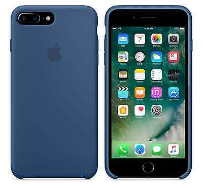 NEW OCEAN BLUE GENUINE Apple Silicone Case For iPhone 7 Plus 5.5 SEALED BOX