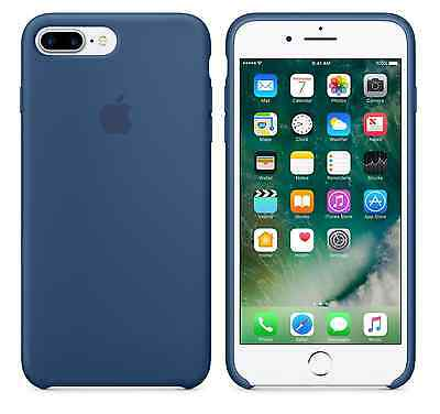 """OCEAN BLUE GENUINE Apple Silicone Case For iPhone 7 Plus 5.5"""" SEALED BOX NEW!"""