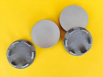 4x Ø 60mm / 52mm Alloy Wheel Rim Center Centre Hubs Caps Set Hubcap Cover Subaru