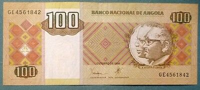 ANGOLA 100  KWANZAS NOTE,  P 147, ISSUED October 1999