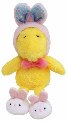 Peanuts Snoopy Woodstock Rabbit plush 5.9 inches JAPAN NEW