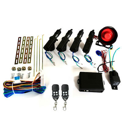 Car Security Alarm Central Door Lock Keyless Entry System Remote Control Kit AU