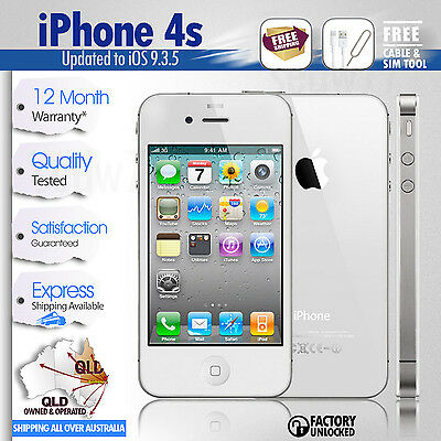 Apple iPhone 4s-16GB-White-Super Fast Shipping-100% Just Like New, Unlocked,Mint