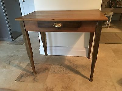 Antique Pine Rustic Writing Desk / Small Table