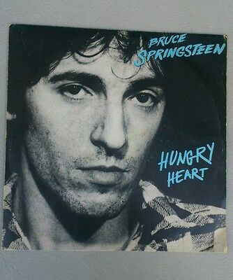 "BRUCE SPRINGSTEEN hungry heart/held up without a gun 7"" EX=/EX ITA"