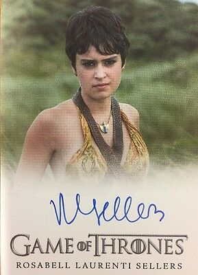 Game Of Thrones Season 6 Rosabell Laurenti Sellers As Tyene Sand Autograph Card