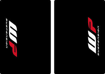 WP Suspension Bike Upper Forks Decal Stickers Graphic Set Adhesive Black 2 Pcs