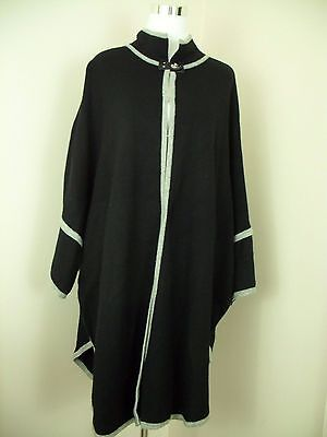 Seraphine Cape Sweater Coat Size M/L Black Cardigan Wool Blend Maternity