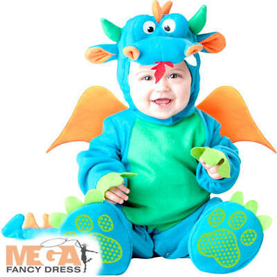 Lil Dragon Baby Fancy Dress Fairytale Animal Boys Toddlers Infants Costume New