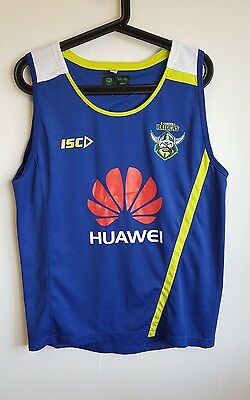 Canberra Raiders Australian NRL Blue Huawei Rugby Sleeveless Top Vest Size S