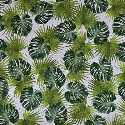 Tropical Palm Leaves Fabric - Quality Digital Print, Upholstery & 100% Cotton