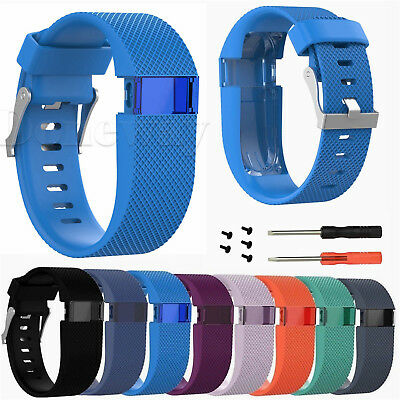 L/S Replacement Silicon Watch Band Strap for Fitbit Charge HR Tracker with Tools