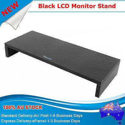 LCD Monitor Shelf Stand Riser Desktop Computer Display Mount Holder BLK AU POST