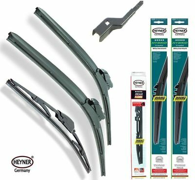 Fiat 500L 2012-2016 Full set of 3 windscreen wiper blades FRONT+REAR