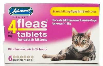 Johnsons 4flea Chat Chaton Comprimés 3pk Paquet de 6 Pack Économique - Tueur