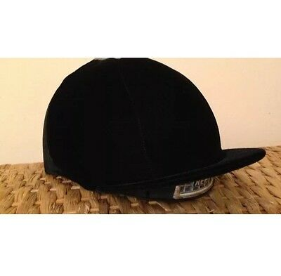 Black Velvet Velour Riding Hat Cover Silk One Size