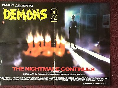 Demons 2 ; RARE 1980s Horror   original film display poster