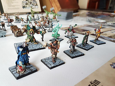 Dungeon Saga *SUPERBLY PAINTED* including Scenery + Aryclic counters + Sleeves