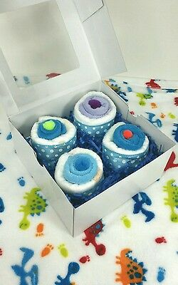 Baby shower gift diaper cupcakes 4 set, free shipping