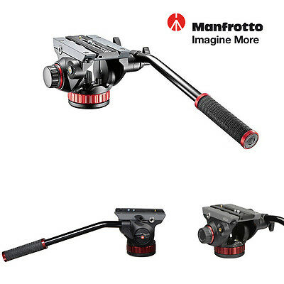 Manfrotto 502HD Video Pro Fluid Head For Camera - Supports 7kg #MVH502AH