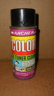 Vintage Archer Color TV Television Tuner Cleaner Spray Can Great Graphics