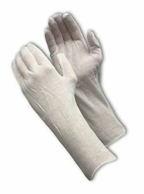 LOOK White Cotton Large Coin Gloves Goes Over the Wrist