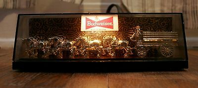 BUDWEISER 1950s / 60s 8 inch Mini Small Clydesdales Lighted Beer Sign Union Made