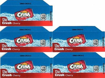 Cherry Crush Labels 5 Small 12oz Can Soda Vending Machine Calories Labels