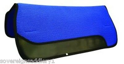 "Blue Perforated Cushioned Saddle Pad 30"" X 31"""