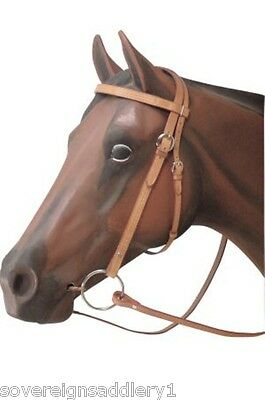 Waffle Weave Leather Western Bridle and Reins Full Size