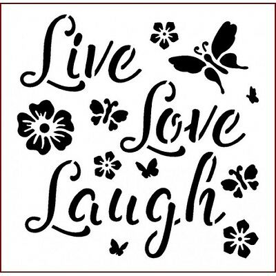 Imagination Crafts Live Love Laugh stencil