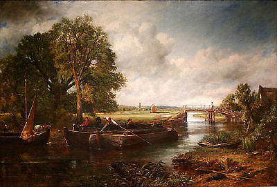 John Constable View On The Stour Painting Poster Fine Art Re-Print A4