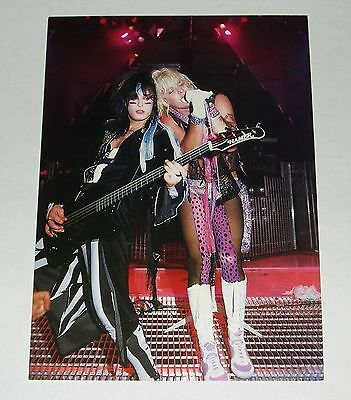 Nikki Sixx & Vince Neil Original 7x10 Color Photo Freezz Frame 1986 Motley Crue