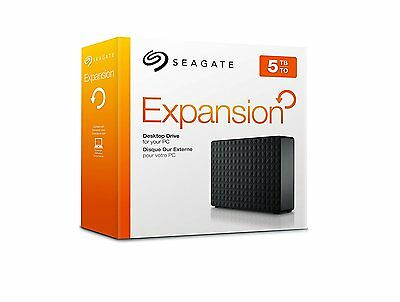 Seagate Expansion 5 TB USB 3.0 Desktop 3.5 inch External Hard Drive UK STOCK