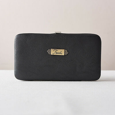 Black Opera Wallet with Faith Badge. FREE DELIVERY