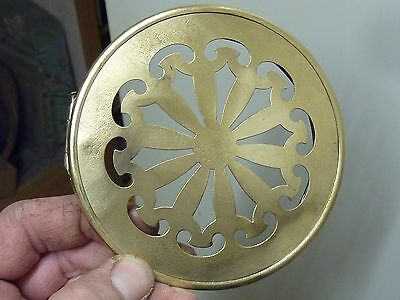 Good Antique French Clock Pierced Brass Back Door (T1)