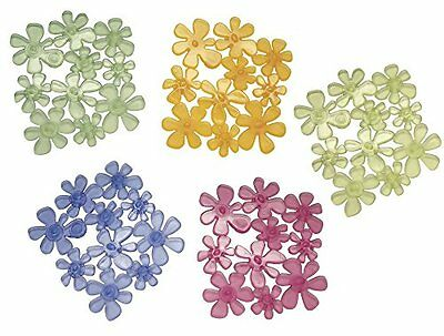 mDesign Blooms Non Slip Safety Stickers For Shower Bath – Pack of 6, Assorted