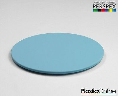 Laser Cut Plastic Circles Acrylic Discs Perspex 3mm, 5mm Candy Frost Blue Pastel