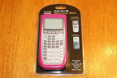 Pink Silicone Protective Fitted Skin for Tech Headquarters TI-84 Plus SE - NEW