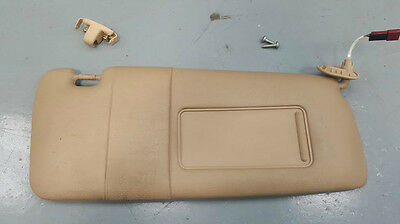 Bmw 3 Series E46 98-06 Front Driver Offside Electric Sun Visor + Clip Hellbeige