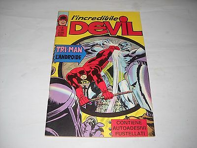 L' Incredibile Devil N. 18 Con Adesivi Gadget Editoriale Corno Marvel !