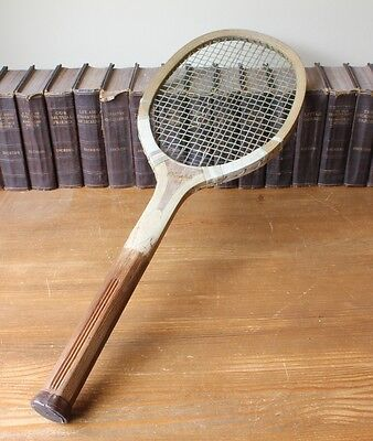 Antique Lawn Tennis Racket by Olympic c1910