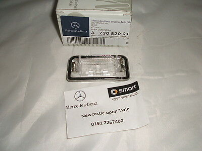 Genuine Mercedes-Benz R230 SL-Class Rear Number Plate Lens A2308200166 NEW