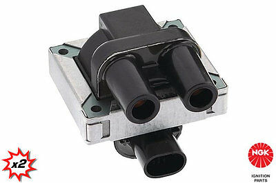 2x NGK Ignition coil U3001 stock code 48013. In stock, fast despatch UK seller