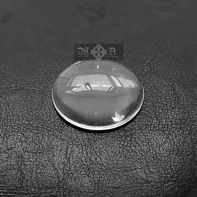 10 x Clear Glass 40mm Round Domed Cabochons - Transparent Flatback Seals