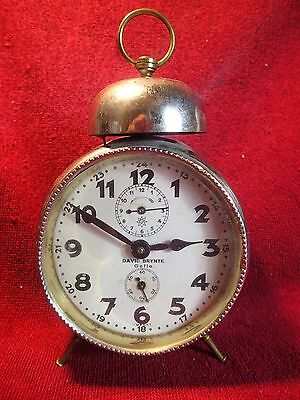 1920-s JUNGHANS / DAVID BRYNTE ??  ALARM CLOCK GERMAN GERMANY  - CLEANING NEEDED