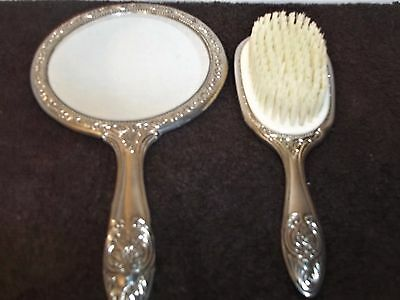 Vintage godinger silver plated hand mirror